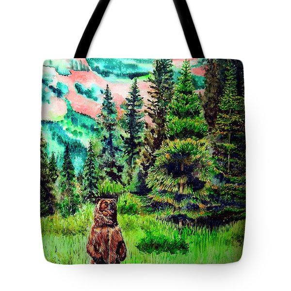 Grizzly Country Tote Bag by Tracy Rose Moyers