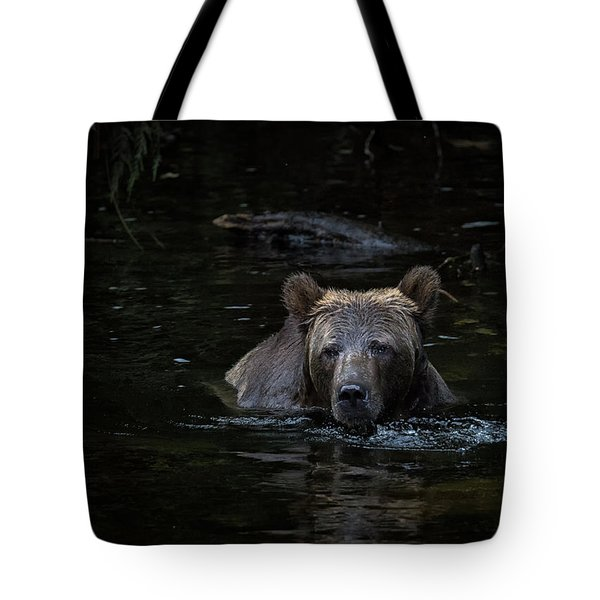 Grizzly Swimmer Tote Bag