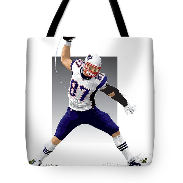 Tote Bag featuring the digital art Gronk by Scott Weigner