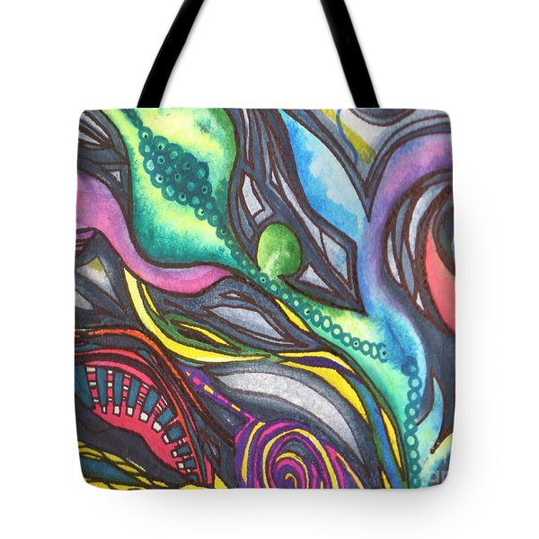 Groovy Series Titled My Hippy Days  Tote Bag by Chrisann Ellis