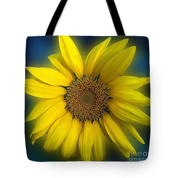 Groovy Sunflower Tote Bag by Jeanne Forsythe