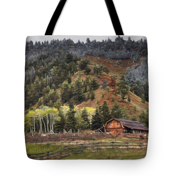 Gros Ventre River Ranch Tote Bag