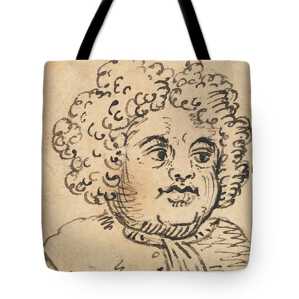 Grotesque Male Head Tote Bag