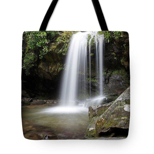 Grotto Falls Vertical Tote Bag