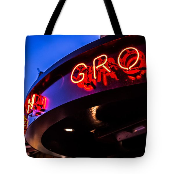 Tote Bag featuring the photograph Grotto - Night View by Lora Lee Chapman