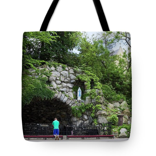 Grotto Of Our Lady Of Lourdes Tote Bag