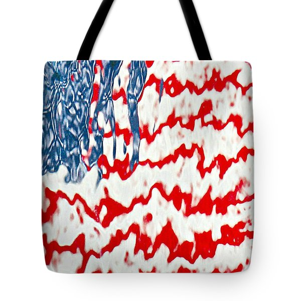 Ground Zero Reflection Of The American Flag Tote Bag