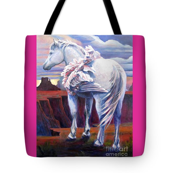 Tote Bag featuring the painting Grounded by Pat Burns