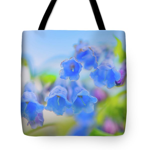Tote Bag featuring the photograph Group Of Idaho Bluebells by Leland D Howard