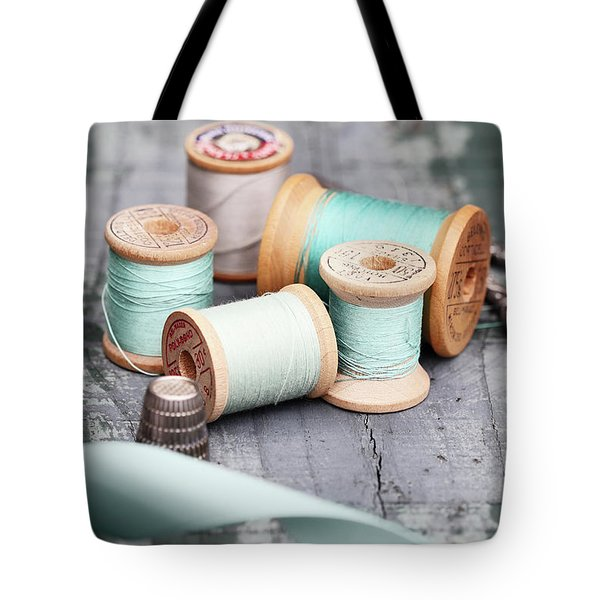Group Of Vintage Sewing Notions Tote Bag