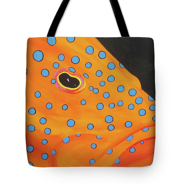 Grouper Head Tote Bag
