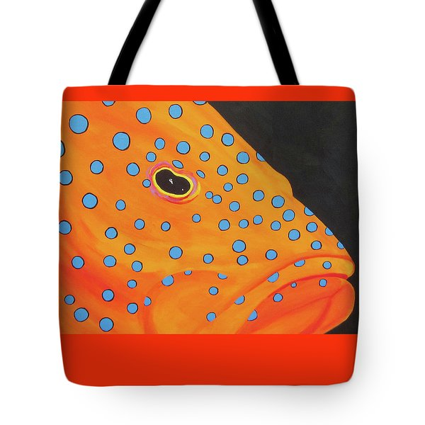 Grouper Head Tote Bag by Anne Marie Brown