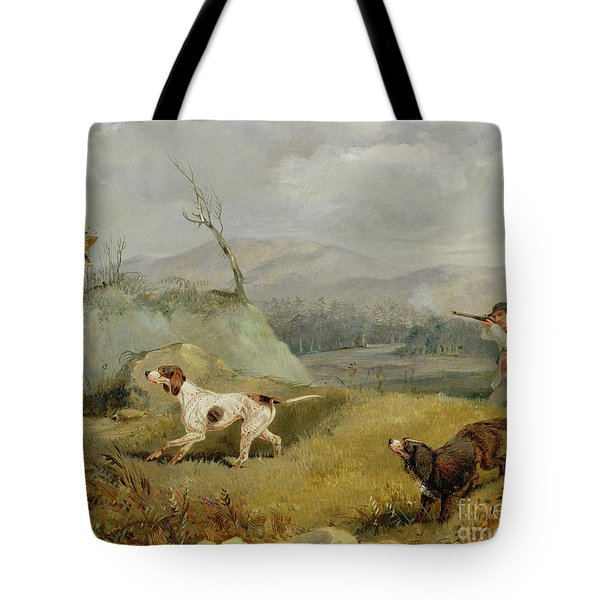 Grouse Shooting  Tote Bag by Henry Thomas Alken