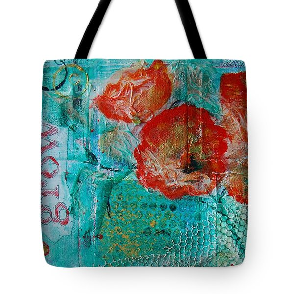Tote Bag featuring the painting Grow 8x12 by Jocelyn Friis