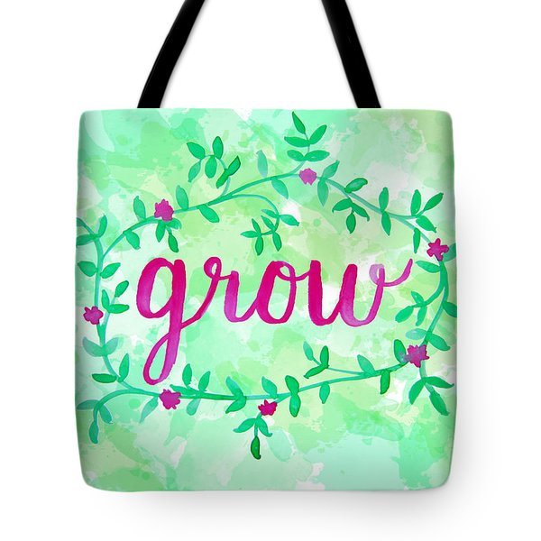 Grow Watercolor Tote Bag