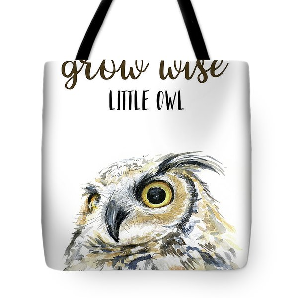 Grow Wise Little Owl Tote Bag