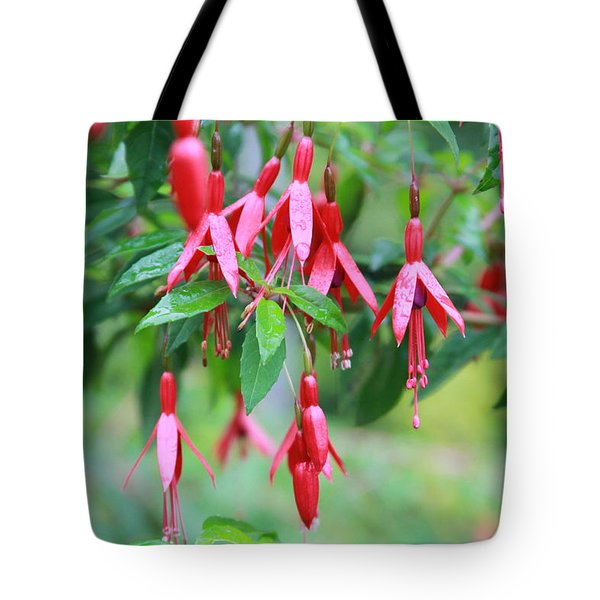 Tote Bag featuring the photograph Growing In Red And Purple by Laddie Halupa