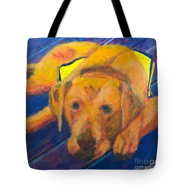 Growing Puppy Tote Bag by Donald J Ryker III