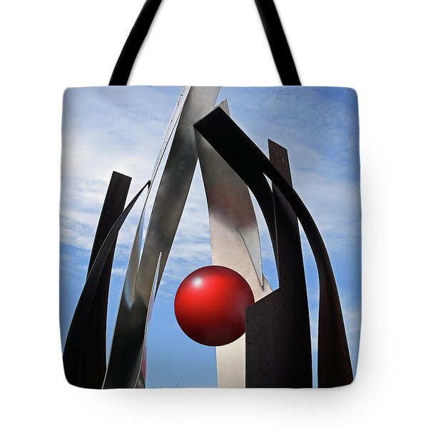Tote Bag featuring the photograph Growing Sculpture by Christopher McKenzie
