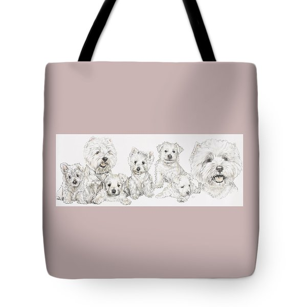 Growing Up West Highland White Terrier Tote Bag by Barbara Keith