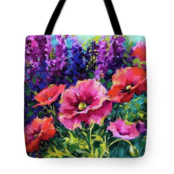 Growing Wild Poppies Tote Bag