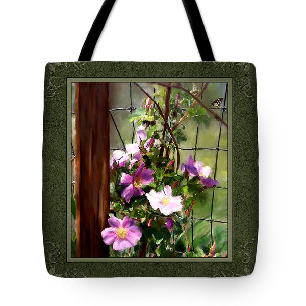 Tote Bag featuring the digital art Growing Wild by Susan Kinney