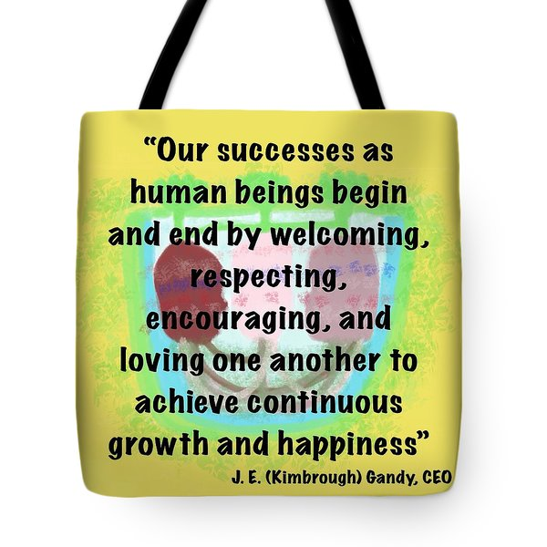 Growth With Humanity Tote Bag