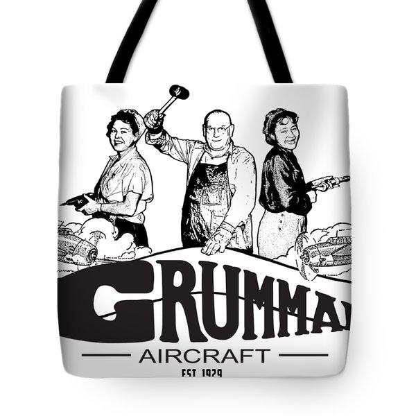 Grumman Aircraft Est 1929 Tote Bag