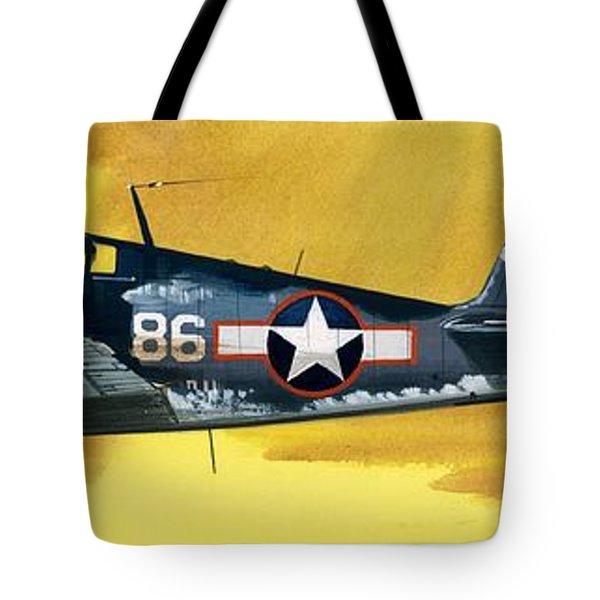 Grumman F6f-3 Hellcat Tote Bag