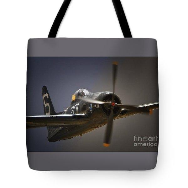 Grumman F8f Bearcat No. 201 Tote Bag