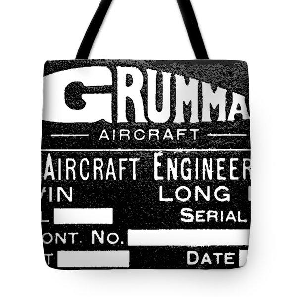 Grumman Product Plate Tote Bag