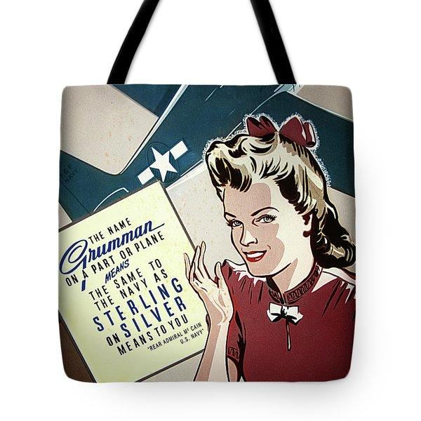 Grumman Sterling Poster Tote Bag