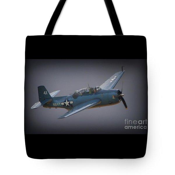 Grumman Tbf Avenger No.41 Bluegray Tote Bag
