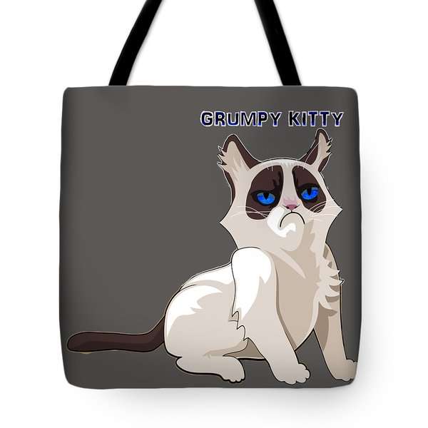 Tote Bag featuring the digital art Grumpy Cat by Ericamaxine Price