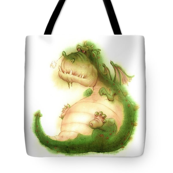 Grumpy Dragon Tote Bag
