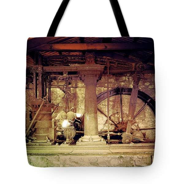 Tote Bag featuring the photograph Grunge Cane Mill by Robert G Kernodle