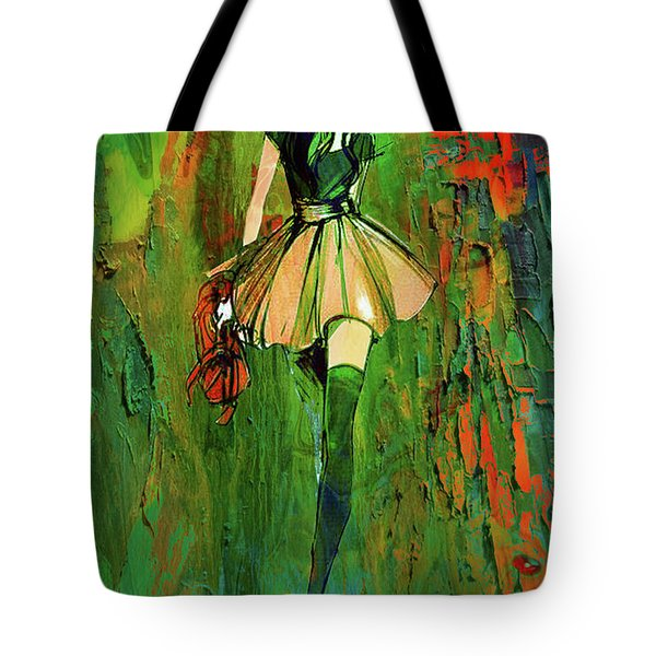 Tote Bag featuring the digital art Grunge Doll by Greg Sharpe