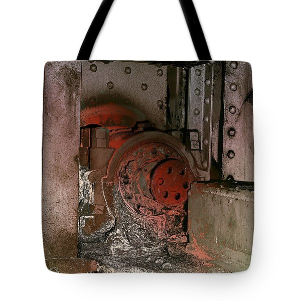Tote Bag featuring the photograph Grunge Gear Motor by Robert G Kernodle