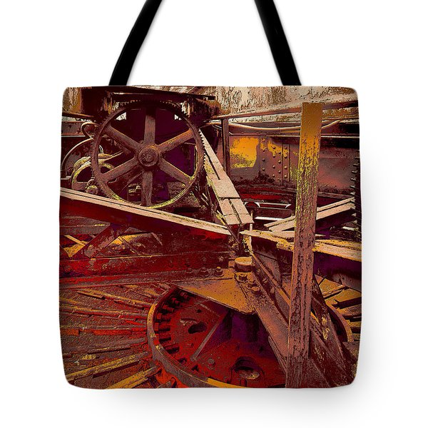 Tote Bag featuring the photograph Grunge Gears by Robert Kernodle