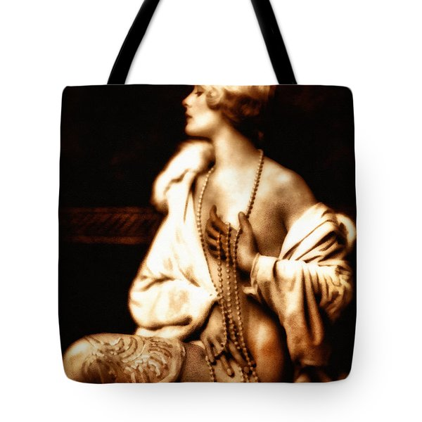 Tote Bag featuring the mixed media Grunge Goddess by Isabella Howard