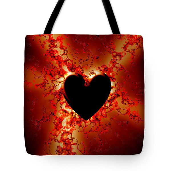 Grunge Heart Tote Bag by Phill Petrovic