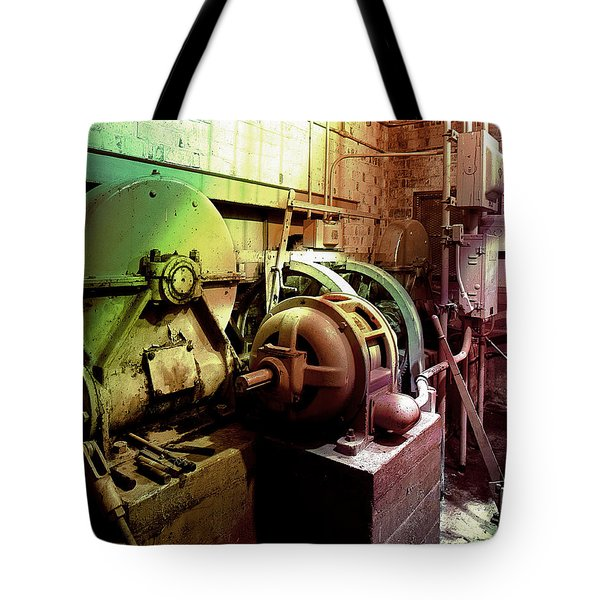 Grunge Hydroelectric Plant Tote Bag