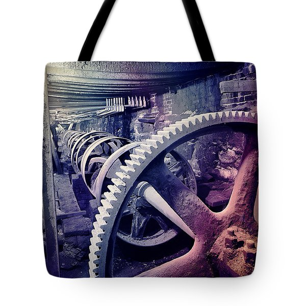 Grunge Large Gear Tote Bag
