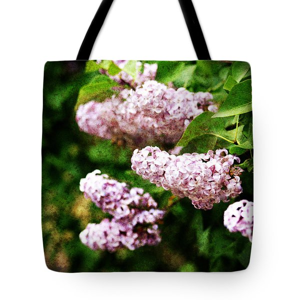 Tote Bag featuring the photograph Grunge Lilacs by Antonio Romero