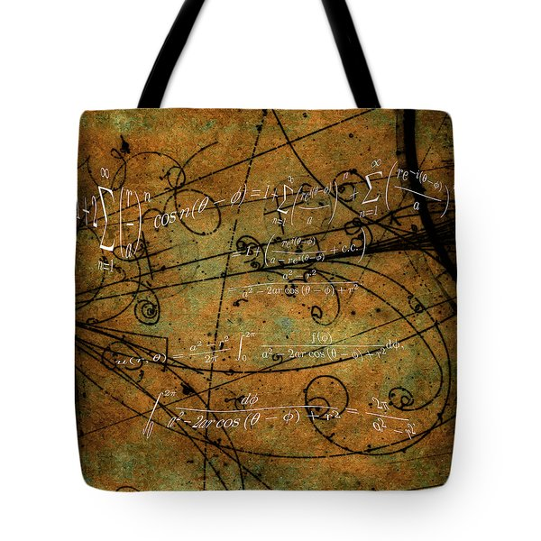 Tote Bag featuring the photograph Grunge Math Equations by Robert G Kernodle