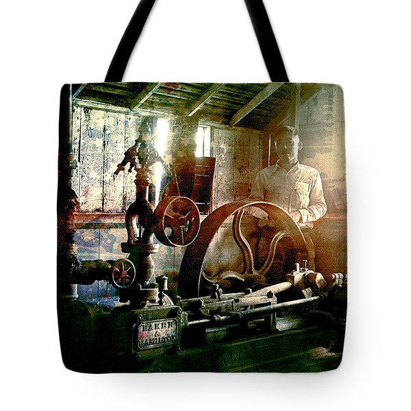 Grunge Meyer Mill Tote Bag