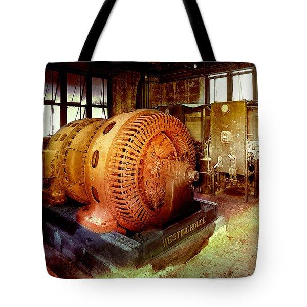 Grunge Motor Generator Tote Bag