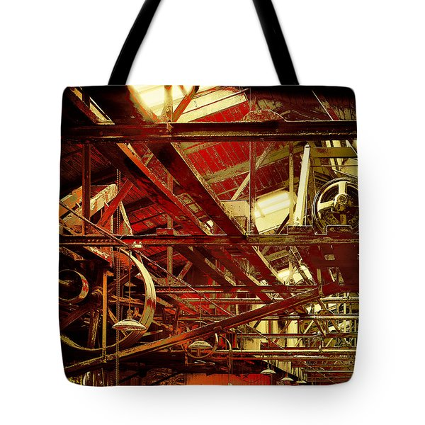 Grunge Power System Tote Bag