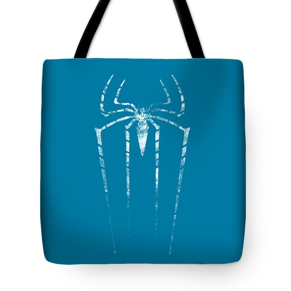 Grunge Silhouette Of Spider. Tote Bag