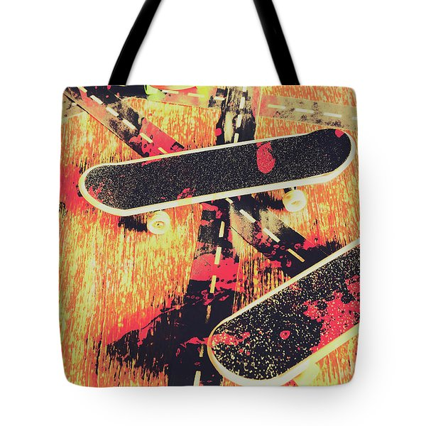 Grunge Skate Art Tote Bag
